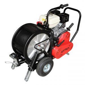 Kabelvinsj, bensindrevet for større trekkeoppdrag, med måleutstyr for trekk-kraft, HSW-B 750 Z,trekk-kraft 7,5 kN