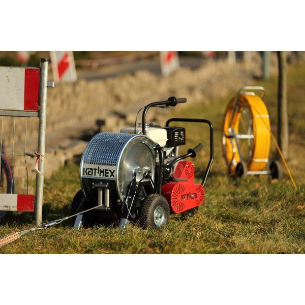 Kabelvinsj, bensindrevet for større vinsjeoppdrag, HSW-B 750, trekk-kraft 7,5kN