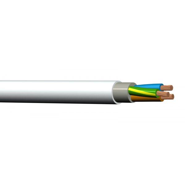 Installasjonskabel  PFXP-R 500V A05VV-U 4 x 10MM2 HVIT
