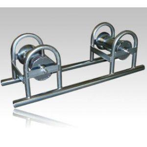 Kabeltrinse med dobbel rulle, stål